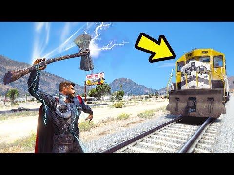 THOR Vigadores Guerra Infinita PODER pode para o TREM do GTA 5?