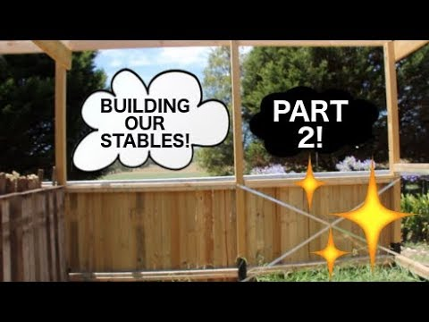BUILDING OUR STABLES! PART 2! FRAMEWORK DONE!