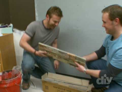 Installing Stacked Stone Tile Wall-DIY Network