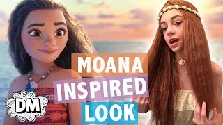 Moana Inspired Makeup, Outfit, + Hair Tutorial! | Alyssa Vlogs