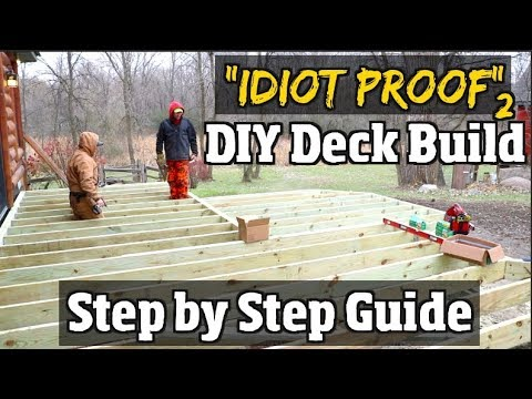 DIY How to build a Deck -  Step by Step Guide to Composite decks pt2 of our