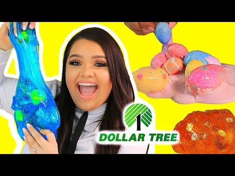 DOLLAR TREE SLIME CHALLENGE! Making Slime Using Dollar Tree Ingredients! EASTER EDITION!
