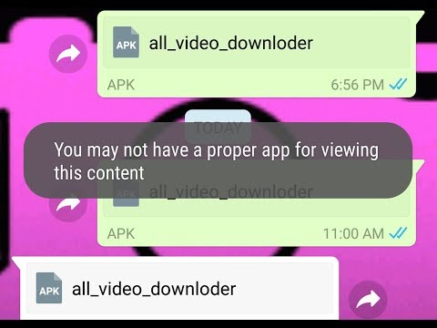 You may not have a proper app for viewing this content  -WhatsApp