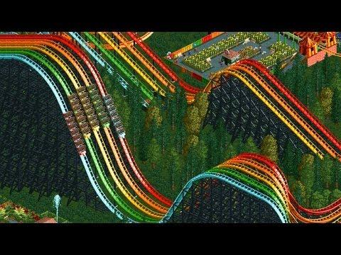 RollerCoaster Tycoon 2 - X5 Rainbow RollerCoaster - Giant Park