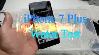 iPhone 7 Plus: Water Test - Speakers, Touch Screen, Camera, Charging, etc