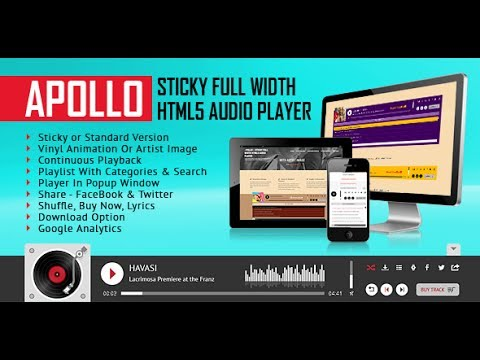Apollo - Sticky Full Width HTML5 Audio Player - Installation