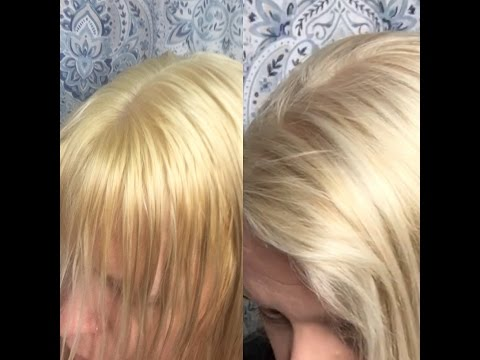 How to tone brassy blonde hair using Wella T18