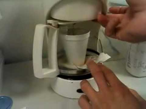 making coffee with a broken coffee pot