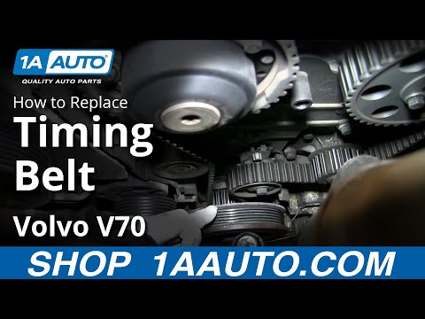 How To install Replace Engine Timing Belt Volvo L5 2.4L