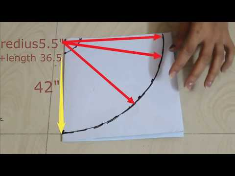 Full flare circle Umbrella pattern drafting ,cutting Method.