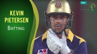 PSL 2017 Match 11: Quetta Gladiators vs Lahore Qalandars - Kevin Pietersen Batting