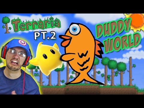Lets Play Terraria Part 2: Let's Make-a-Wish in Duddy World! | FGTEEV Gameplay