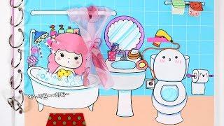 종이인형놀이북~욕실 ♥상황극과 만들기/ How to Make A Paper Doll Bathroom /DIY Quiet Book/손그림_예뿍