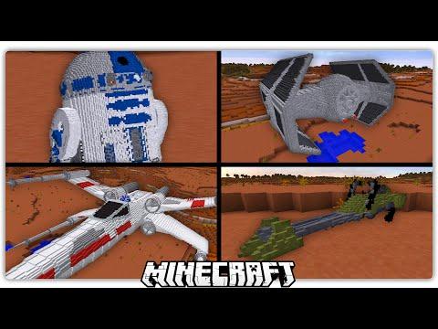 Realistic Minecraft Star Wars Working R2D2 & Ships!