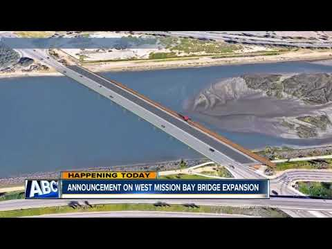 Expansion, reconstruction coming for West Mission Bay bridge