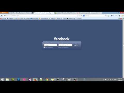 how to change facebook theme like iOS on firefox 2014