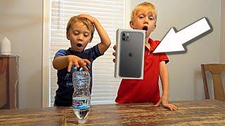 Bottle Flip Challenge for iPhone 11   Colin Amazing