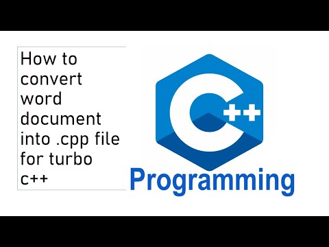 How to convert word document into cpp file for turbo c++