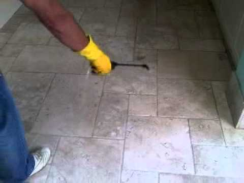 How To Clean and Seal Travertine Floor - By Hand