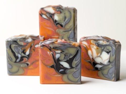 Homemade Soap - Hanger Swirl - Embracing Opposites Soap Challenge Club