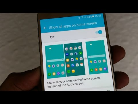 Samsung Galaxy S7/S7 Edge Remove Touchwiz App Drawer