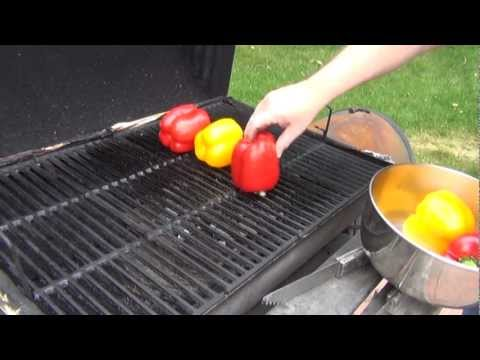 Roasted Peppers on the Grill