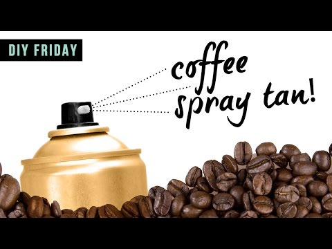 WE MADE SELF TANNER SPRAY OUT OF COFFEE - DIY