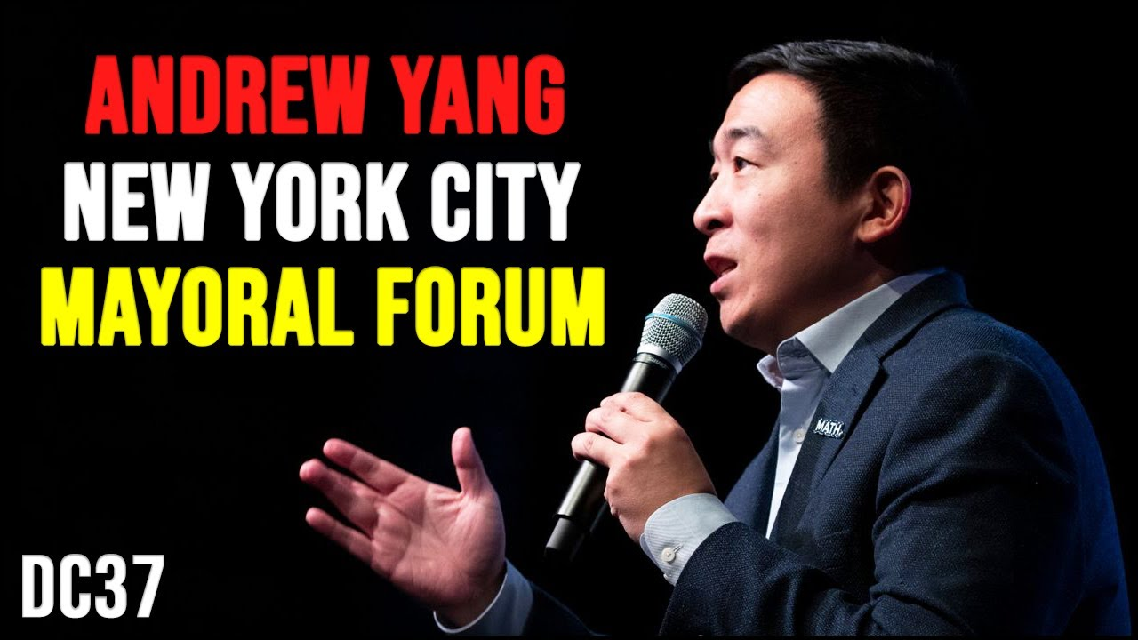Andrew Yang at the District Council 37 NYC Mayoral Forum   January 25th 2021