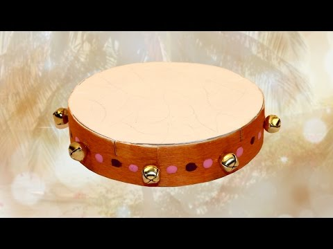 Tambourine craft with a Camembert box