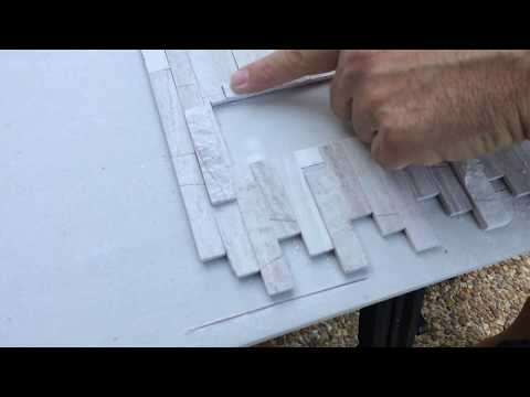 How to install kitchen counter top backsplash self adhesive ceramic tile Video 3