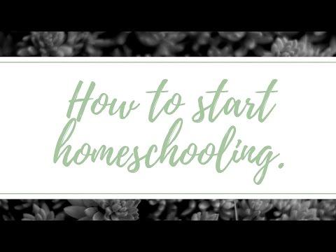 How to start homeschooling.