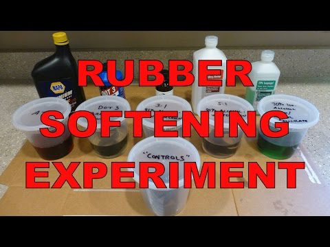 Rubber Softening Experiment : Wintergreen Oil, Brake Fluid, ATF & More