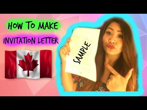 Tourist Visa in Canada 2017 *SAMPLE LETTER*