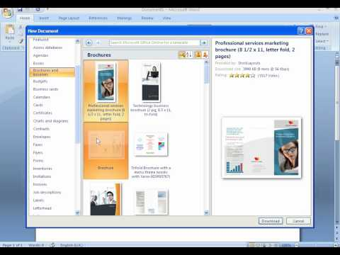 How to create a brochure with Microsoft Word 2007