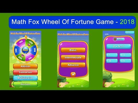 Math Game Wheel OF Fortune - 1st, 2nd, 3rd, 4th, 5th, 6th, Grade