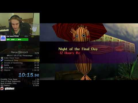 The Legend of Zelda: Majora's Mask Any% Speedrun (1:19:30)