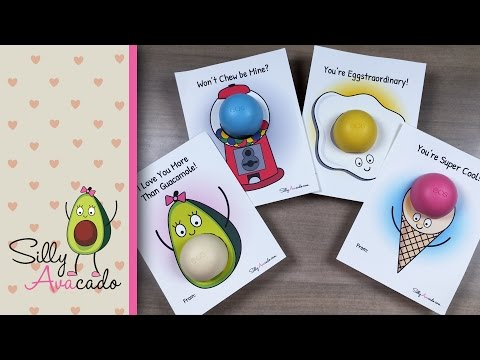 How to Make EOS Valentine's Day Cards ❤ Printables Included! ❤ DIY EOS Lip Balm