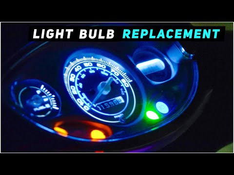 2013+ Piaggio Fly - Dash / Speedometer Light Bulb Replacement