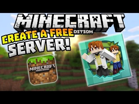 CREATE A FREE SERVER in MCPE!!! - Play With Friends - Minecraft PE (Pocket Edition)