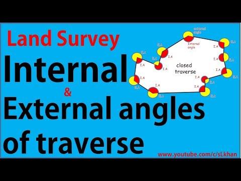 Land survey: internal and external angles of traverse - civil engineering - SL KHAN