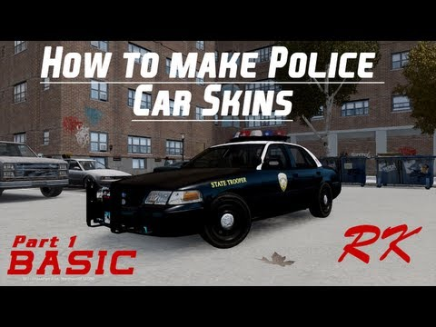 [Tutorial] How to make a Police Car Skin [BASIC]