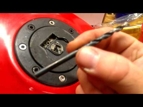 Motorcycle Tank Lock Drilled Out