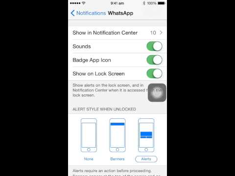 How to change notification styles in iPhone