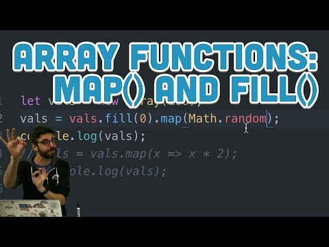 16.6: Array Functions: map() and fill() - Topics of JavaScript/ES6