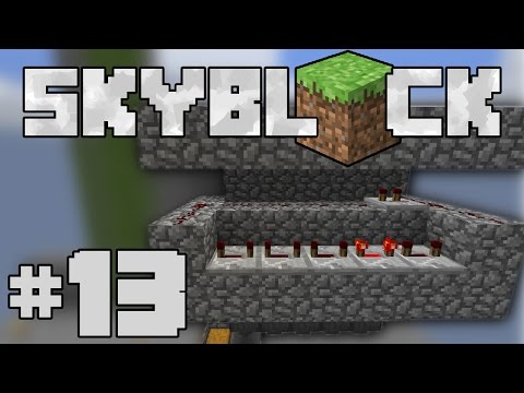 Minecraft- SkyBlock [13] AUTO COBBLE GENERATOR
