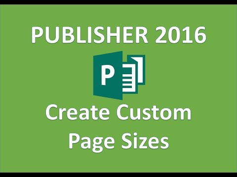 Publisher 2016 - Custom Page Size - How to Customize Page Height Width and Margins in MS Office 365