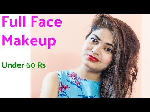Full face Of makeup Using Products Under Rs.60/- Only | Cheapest Makeup Tutorial