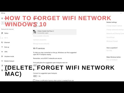 How to forget WiFi network Windows 10(Delete, forget WiFi network mac)