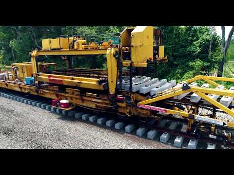 Track Construction Machine Installs New Track in Berlin, Connecticut (July 2017)