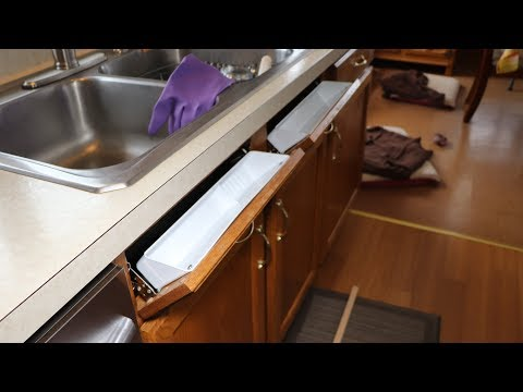 Kitchen Update Part 8 Installing Sink Front Tip Outs, Towel Rack, & Pullout Shelves